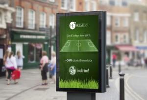 hosteva billboard durak mockup tasarımı