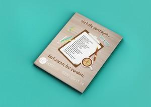 hosteva dergi mockup tasarımı