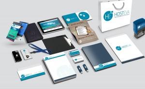 hosteva kurumsal kimlik mockup tasarımı
