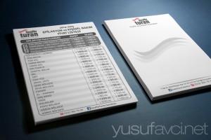 Fiyat Listesi Antetli Kağıt tasarımı