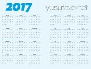 2017 vektörel türkçe takvimi AI CDR PDF EPS