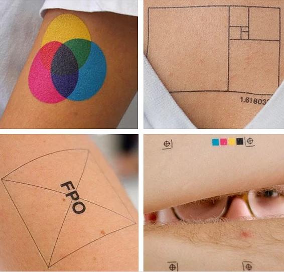 Grafik tasarımcı dövmeleri
