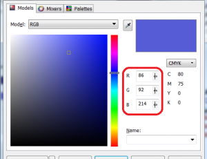 Corel CMYK to RGB