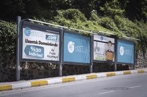 hosteva billboard şehir reklamı mockup tasarımı