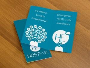 hosteva broşür mockup tasarımı