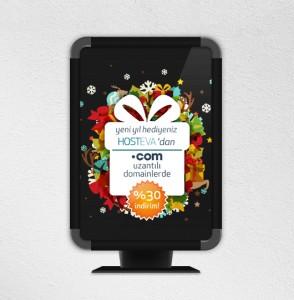 hosteva duba yeniyıl kampanya mockup tasarımı