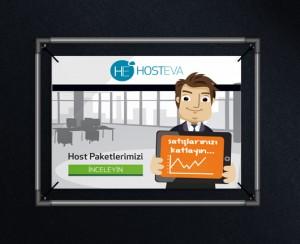 hosteva tanıtım reklamı mockup tasarımı