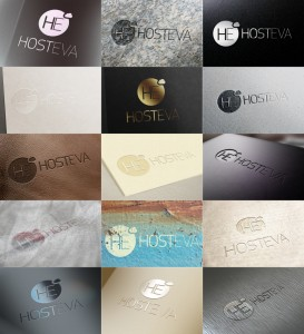 hosteva logo mockup tasarımı