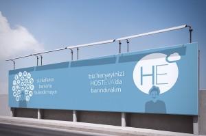hosteva şehir reklamı mockup tasarımı