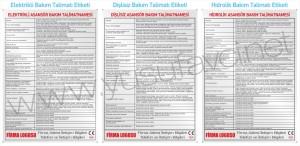 Alüminyum Metal Leksan Asansör Uyarı Talimat Etiketleri