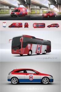 Çanakkale Dardanel Takım Otobüsü Tasarımı Takım Araçları