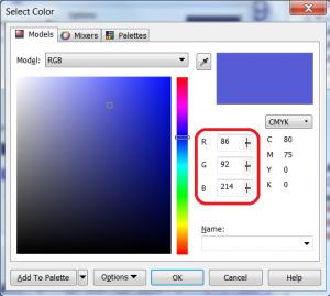 Corel CMYK to RGB